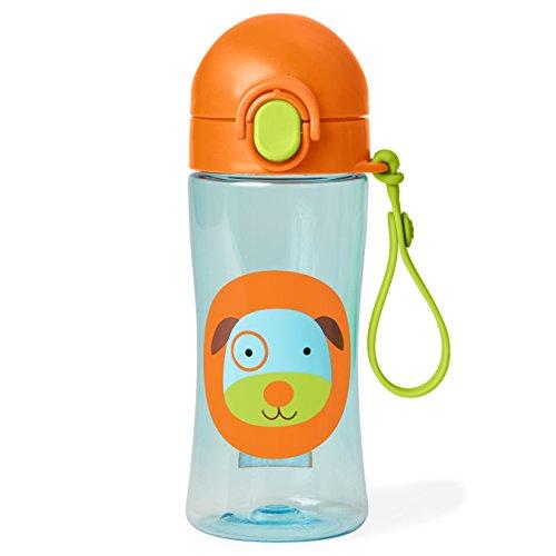 Skip Hop Zoo Lock Top Sportfles, met rietje van silicone, voor kinderen, meerkleurig Dog dog