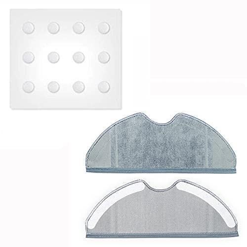 Kit de reparación de filtros de repuesto para aspiradora robótica 360 S7, 2Pcs Mop Cloth + 1Pack Water Tank Filter