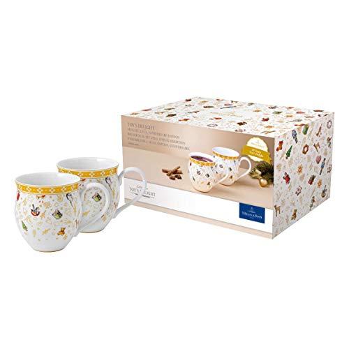 Villeroy und Boch - Toys Delight Becher mit Henkel Set, 2tlg., dekorativer Sammel-Becher aus der Jubiläumsedition, Porzellan, bunt/gold/weiß, 440 ml