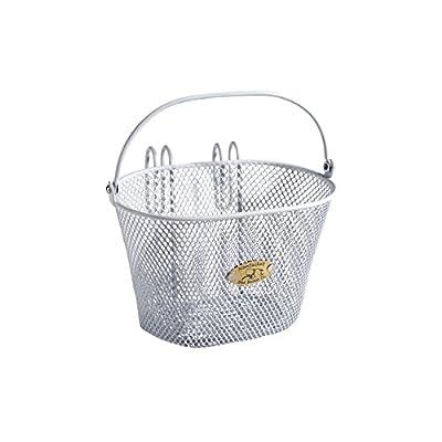 Nantucket Bike Basket Co Kid's Surfside Mesh Wire Basket, White, 9.8 x 6.8 x 6.3''
