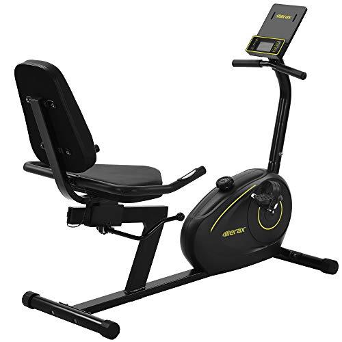 X Bike, bicicleta estática, bicicleta de fitness, bicicleta plegable, sensor de pulso y monitor LCD, 3 programas preestablecidos, Bluetooth y aplicación libre, soporta hasta 110 kg