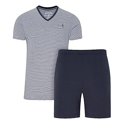 Jockey Herren Pyjama 1/2, 2tlg., Admiral, 3XL