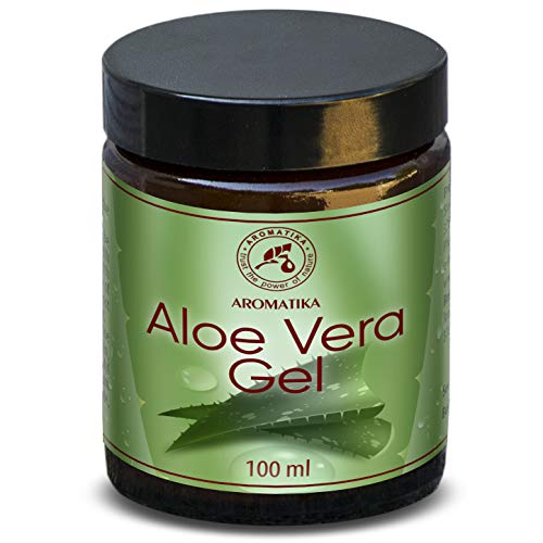 Aloë Vera Gel 100ml - 100% puur natuurlijke gel, rijk aan mineralen & vitamines A, B1, B2, B6 en B12 - voor intensieve huidverzorging - massage - wellness - cosmetica - ontspanning - spa - beauty - anti- rimpels - anti-aging