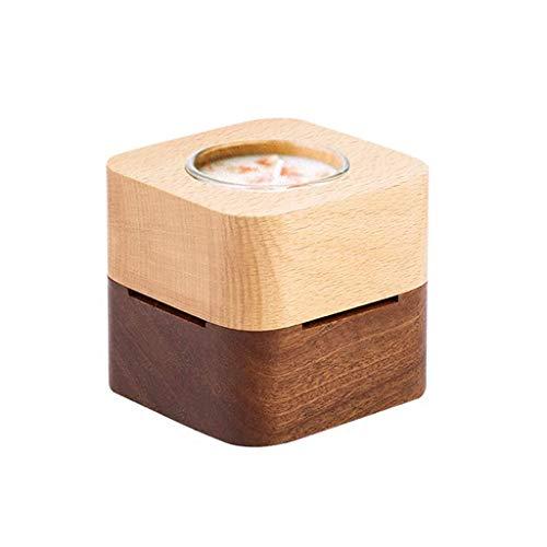 WECDS-E Caja de música Caja de música de Madera Caja de música Creativa Adornos Decorativos Cumpleaños (Cuadrado) Caja Musical giratoria (Color: Ciudad del Cielo)