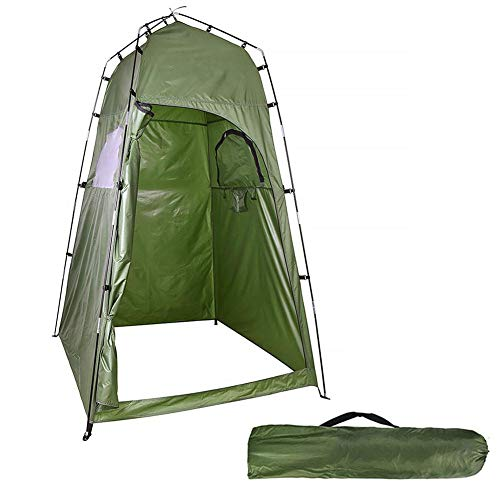 qianqian Portable Privacy Shower Tent, Beach Camp, Camping Toilet Tent, for Outdoor Bathing, Dressing, Toilet, Storage Room Tents, with Carrying Bag | 47x47x77'' | Green |