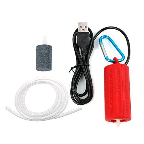 SHINAN Tragbarer Mini-USB-Aquarium-Luftpumpe für Sauerstoffpumpe, energiesparend
