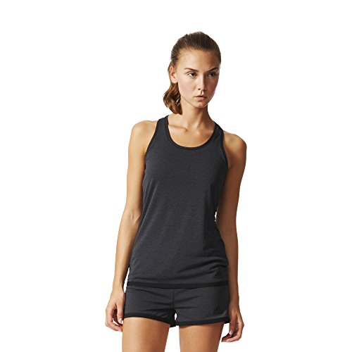 adidas Climachill Tank - Camiseta para Mujer, Color Gris/Negro, Talla XS