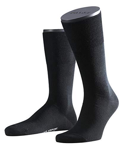 FALKE Herren Socken Airport, Merinowolle Baumwolle, 1 Paar, Grau (Anthracite Melange 3080), 43-44 (UK 8.5-9.5 Ι US 9.5-10.5)