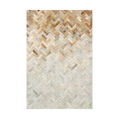 N/Z Daily Equipment Ledernahtmatte Home geometrisches Wohnzimmer Sofa Couchtisch Decke Schlafzimmer Bett (Farbe: GELB Größe: 140 * 200 * 1,1CM)