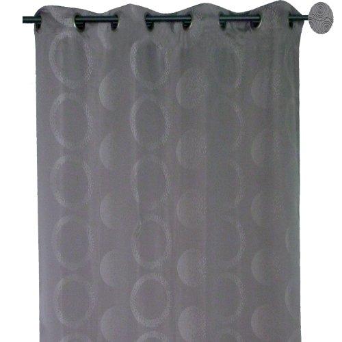 Home Maison HM698854529 gordijn, jacquard, motief pixels, 140 x 260 cm, grijs