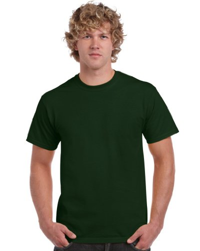 Gildan Heavy Cotton Tee T-Shirt, Verde (Forest Green), M Uomo