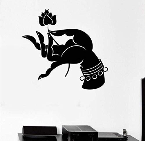Calcomanía De Pared Calcomanía Vinilo Hinduismo Yoga Meditación Pegatina De Pared Vinilo Calcomanía Artística Para Decoración De Habitación 55X66Cm