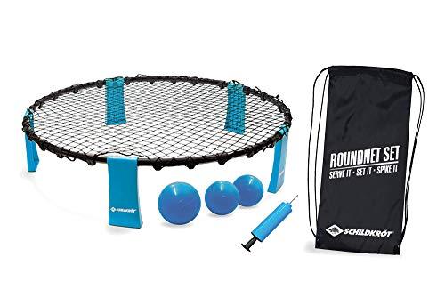 Schildkröt Roundnet Set, komplettes Set für den sofortigen Start, inkl. 3 Bälle, Ballpumpe und Tragetasche, ultimativer Spaßfaktor für Jung und Alt, 970981