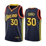 Stephen Curry Jersey, 2021 New Temporada Golden State Warriors Jerseys de Baloncesto para Hombres, Swing Transpirable Man Jersey Fans Deportes Camiseta sin Mangas (S S