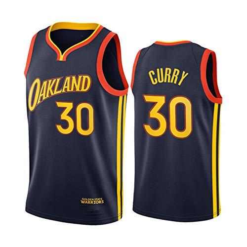 Stephen Curry Jersey, 2021 New Season Golden State Warriors Basketball-Trikot für Herren, Fitness-Studio, Sportweste, schnell trocknend, Fans, Jersey, Hip-Hop-Kleidung für Party (S-XXL) Gr. XL, blau