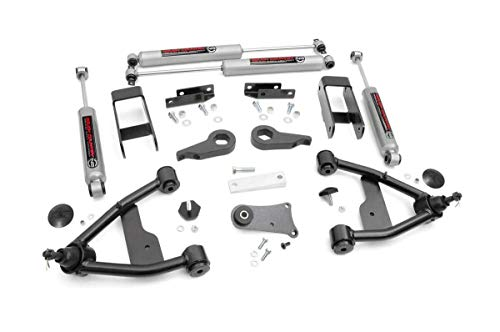 """Rough Country 2.5"""" Lift Kit Fits 1982-2004 [ Chevy ] [ GMC ] S10 Trucks w/ N3 Shocks Suspension System 24230"""