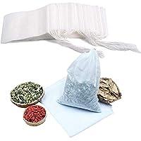 特大 再利用可能不織布バッグ巾着バッグオーガンジーの翼ガーゼバッグ100個プレゼント綿バッグ、お茶バッグ小物包装ろ過バッグ漢方薬バッグキャンディーバッグ20*30センチ(ホワイト)