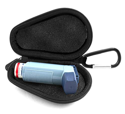 Casematix Asthma Inhaler Medicine Travel Case to Protect Portable Inhalers from Dust and Dirt , Does Not Include Inhaler