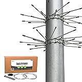 gardenson Marder-Schutz für Fallrohre | 2er Set Marderabwehr-Gürtel aus Edelstahl | 100mm Ø rostfreies Stachelband Dachrinne | Inkl. ABWEHR-DRAHT