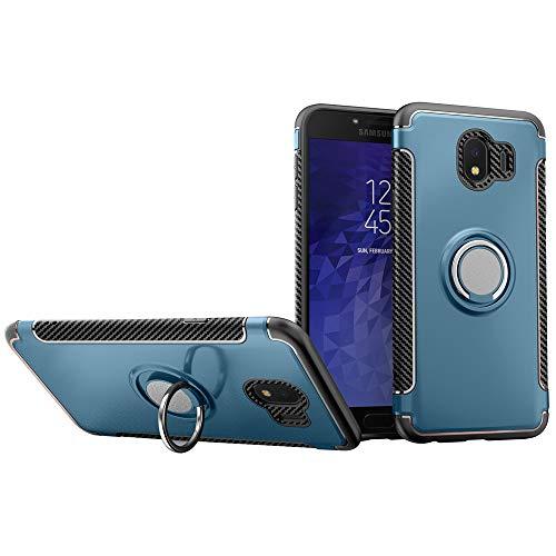 HICASER Samsung J2 PRO 2018 Custodia, 2 in 1 Ibrida Rigida Morbido Armatura Resistente agli Urti TPU + PC Case con Supporto Dell'anello Protettiva Custodia Cover per Samsung Galaxy J2 PRO Dark Blu