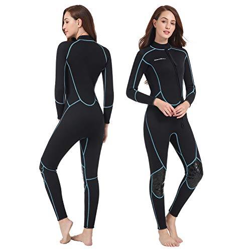 Traje de neopreno corto de 3 mm para hombre, traje de buceo con cremallera frontal, para buceo, surf, surf, talla M