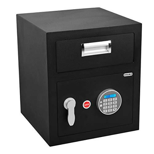 ANSLOCK Steel Electronic Cabinet Safes, Standard Keypad Depository Safe, Drop Slot Safes Security Storage Digital with Drop Box Slot