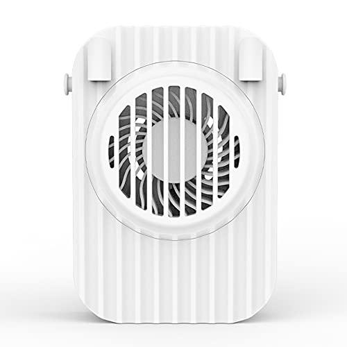 XAENG Mini Fan, Ventilador De Cuello Colgante Portátil, Usos Múltiples, Diseño Ultraavillado Y Amplio De 3 Velocidades, Oficina En Casa De Escritorio Portátil Al Salir (Blanco)