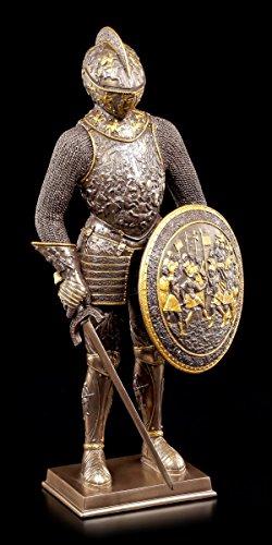 Unbekannt Ritter Figur - Rundschild & Schwert - Veronese Sammelfigur Mittelalter Deko