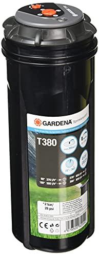 GARDENA Sprinklersystem Turbo-driven Pop-up Sprinkler T 380: Watering system up to 380 m², with adjustable range (6-11 m) (8205-29) - 3/4' female thread