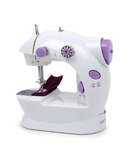 Nähmaschine im Kleinformat, mit Fußpedal und Zubehör für das Nähen, kinderleicht Puppenkleider reparieren oder Eigenkreationen gestalten, für Kinder ab 8 Jahren