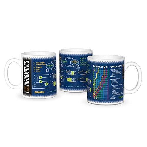 getDigital Wissenschaftsbecher Perfekte Kaffeetasse für Schüler, Studenten, Informatiker und andere Wissenschaftler 300 ml Keramik, Blau-Weiß, 10 x 10 x 10 cm