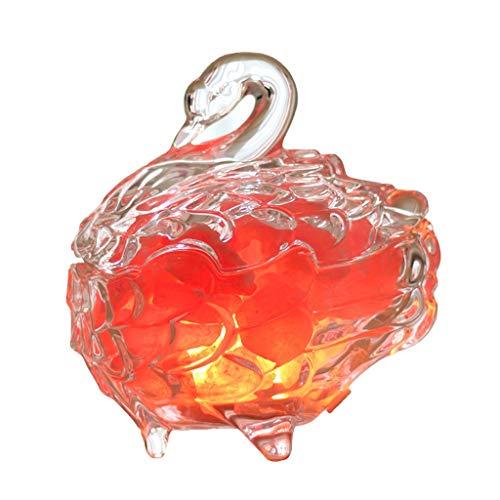 Luminaires & Eclairage/Luminaires intérieur/EC Lampe de sel de Cristal de lumière de Nuit Swan Himalayan sel Lampe créative Petite Lampe de Table Chambre Chevet Plug télécommande télécommande Rose