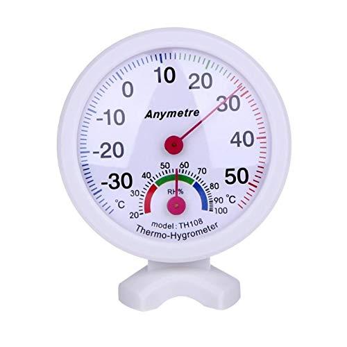 Naisicatar Temperaturmesswerkzeug Rund Digital In-Out Türen Celsius Gewächshaus Thermometer Hygrometer Meter Außenluftfeuchtigkeits Thermometer