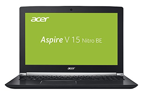 Acer Aspire V 15 Nitro Black Edition (VN7-593G-74J4) 39,6 cm (15,6 Zoll Full-HD IPS matt) Gaming Laptop (Intel Core i7-7700HQ, 8 GB RAM, 512 GB SSD, GeForce GTX 1060 (6 GB VRAM), Win 10) schwarz