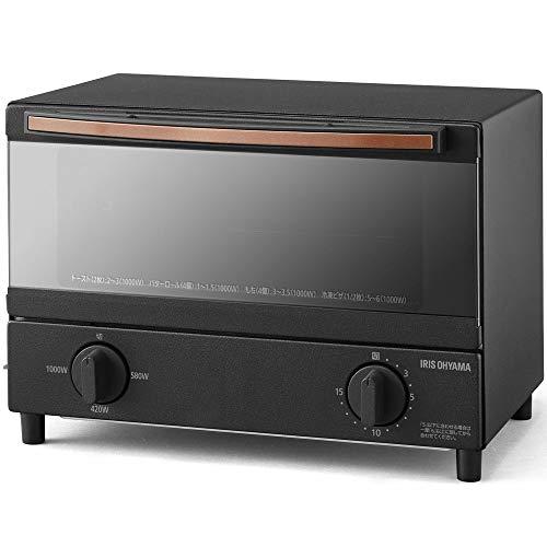 アイリスオーヤマ スチームオーブントースター 2枚焼き ブラック BLSOT-011-B
