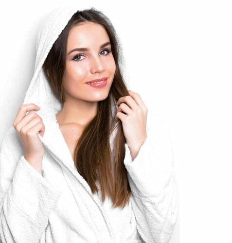 il dolce stile della tua casa Suave albornoz de microrizo superabsorbente puro algodón Mod. Fitness (blanco, S)
