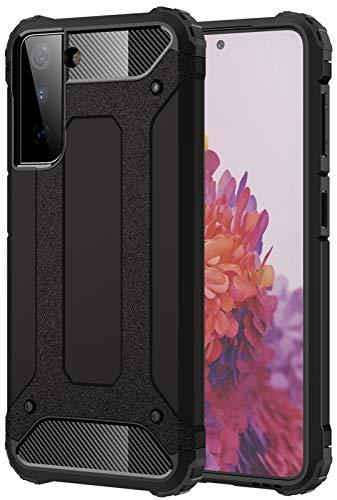 YoTEer Air Armor, Kompatibel mit Samsung Galaxy S21 Plus Hülle, Doppelte Schutzschicht Extrem Fallschutz Handyhülle Schutzhülle Hülle, Schwarz