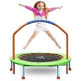 CLORIS Mini-Trampolin für Kinder, 96,5 cm, tragbares Rebounder-Trampolin für Kleinkinder, mit verstellbarem Schaumstoffgriff, faltbares Fitness-Körpertraining für drinnen und draußen, Spielen