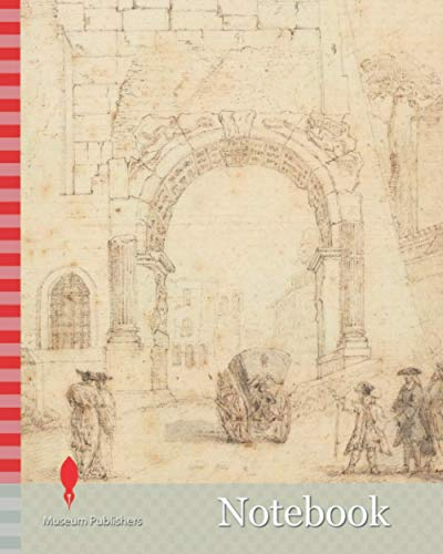 Notebook: The Arch of Titus from the Forum, Rome, Arthur Pond, ca. 1705-1758, British, ca. 1725, Gray wash and graphite with pen and brown ink on medium, slightly textured, cream laid paper