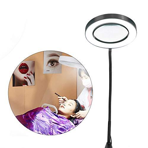 Zetiling FöRstoringsglas Lampa, Led Förstoringslampa, 5 Fack LED Förstorings Lampa Förstoringsglas Skrivbord Med Klämma USB Justerbart Ljus för Nagelkonst Tatuering I Skönhetssalongen