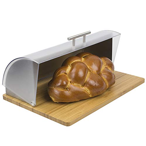 Home Basics Bread Box, Acrylic/Wood