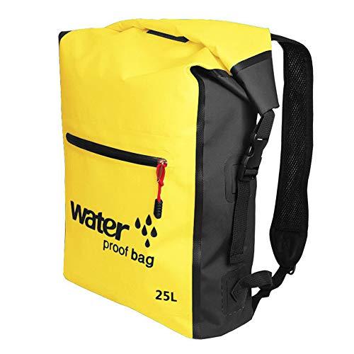 Bolsa seca impermeable mochila de natación 25L mochila para rafting al aire libre kayak boating drifting amarillo impermeable accesorios