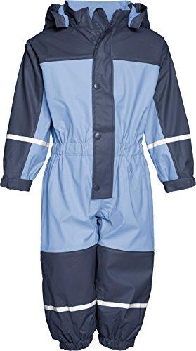 Playshoes Unisex - Baby Babybekleidung/ Overalls Babyoverall mi Fleece-Futter 405400, Gr. 86, Blau (639 marine/hellblau)