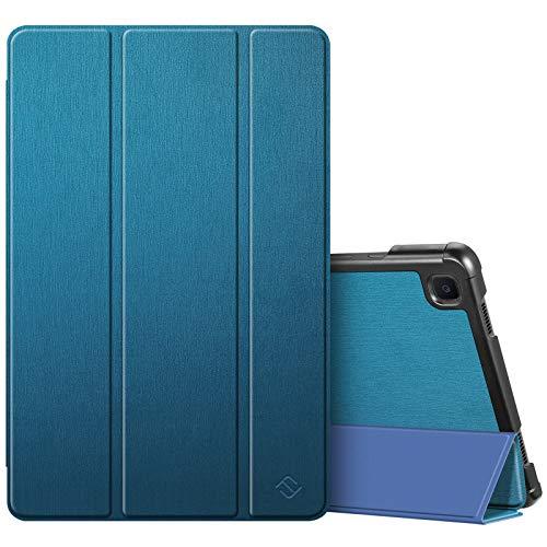 Fintie SlimShell Funda para Samsung Galaxy Tab A7 10.4'' 2020 - Súper Delgada y Ligera Carcasa con Función de Soporte y Auto-Reposo/Activación para Modelo de SM-T500/T505/T507, Azul Medio
