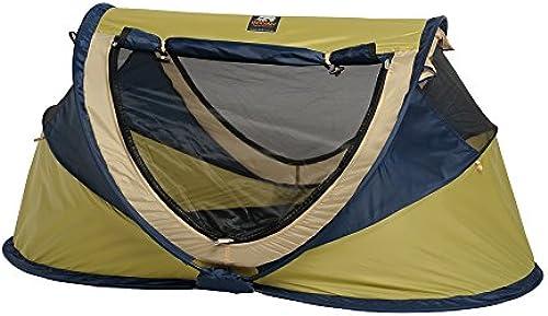 Deryan Reisebett Travel-cot Peuter Luxe Reisebettzelt inklusive Schlafmatte, selbstaufblasbarer Luftmatratze und Tragetasche mit Pop-Up innerhalb 2 Sekunden aufgebaut, lime