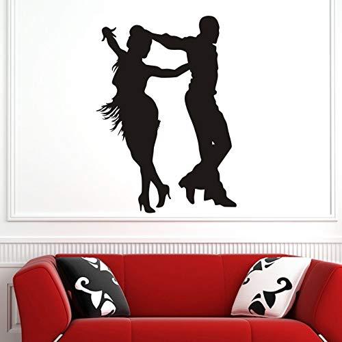 AKmene Bailarina Bailando Pegatinas decoración habitación de los niños decoración del hogar Cartel Vinilo música Coche calcomanías 58x81cm