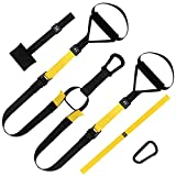 Fitness Suspension Trainer, Suspension Training & Suspension System Training Kit, Build Muscle, Professional Gym Fitness Training Straps, Full Body Workouts For Home, Travel And Outdoors