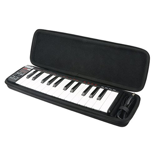 khanka Hard Travel Case Replacement for Akai Professional LPK25 | 25-Key Ultra-Portable USB MIDI Keyboard Controller