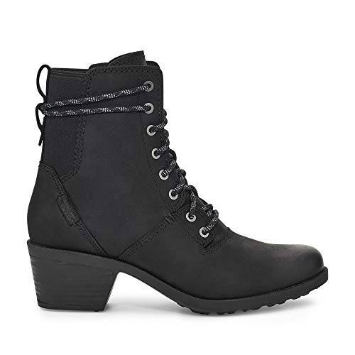 Teva Women's Anaya Lace Up WP Ankle Boot, Black, 8