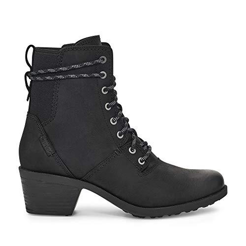 Teva Women's Anaya Lace Up WP Ankle Boot, BLACK, 8.5